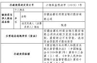 """金寨农商行违法""""近亲""""发放无担保贷款 董事长张浩遭罚"""